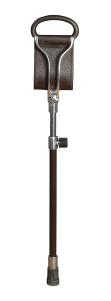 Seat cane ASCOT height adjustable, light metal, leather brown