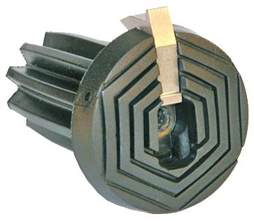 Patentierter Spezial-Polyurethan Puffer für Gehstöcke in schwarz mit Eisdorn und flexiblem Schaft für alle Durchmesser von 13-16mm – Bild 1