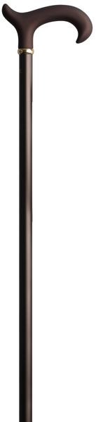 Gehstock ANTISHOCK, ergonomischer Derbygriff aus stabilem Gießharz mit samtiger Oberflächenveredelung, Stock aus stabilem Leichtmetall mit integriertem Patent- Stoßdämpfer, höhenverstellbar von 77-103 cm, inkl. Gummipuffer – Bild 2