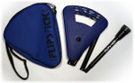 Gehstock FLIPSTICK Sitzstock,navy-blau und elegant, faltbar, höhenverstellbar aus stabilem Leichtmetall,Spezial Klappsitz/Griff,inklusive Gummipuffer und praktischer Nylontasche. 001