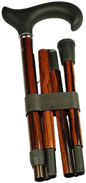 Gehstock Carbon Faltstock SOFTTOUCH ERGONOMIC,ergometrischer Derbygriff mit Softtouch- Oberfläche, aufgesetzt auf einen Stock aus Carbon mit Ebenholzoptik, höhenverstellbar, inklusiv Schlankpuffer. – Bild 2