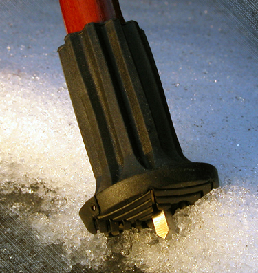 Patented Special- Polyurethane buffer black coloured with an on/off ice spike and a flexible shaft for inside diameters from 16-22 mm – image 4
