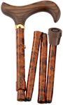 Gehstock Faltstock BIRDEYE, eleganter Derbygriff aus Hartholz, aufgesetzt auf einen Stock aus stabilem Leichtmetall im Birdeye-Design, höhenverstellbar, faltbar, inklusiv Schlankpuffer. 001