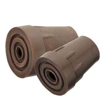 Ersatzgummipuffer für SPIKE PLUS Art. G-40432 in braun, Metalleinlage, Loch für Spike