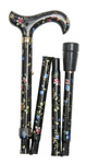 foldable cane ELITE MILLEFLEUR height adjustable walking stick 001