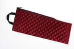 folding stick bag made of cotton, noble velvety burgundy-red