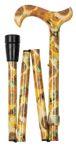 Gehstock Fashion-Derby NATIONAL GALLERY GOGH, eleganter Derbygriff aus Acryl, aufgesetzt auf einen Stock aus stabilem Leichtmetall mit Muster eines Gemäldes von Van Gogh, höhenverstellbar und faltbar
