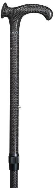 Gehstock Carbonstock RELAX aus superstabilem und dennoch leichtem Carbon(Kohlefaserverbundstoff), anatomischer Griff,  höhenverstellbar, inklusiv Gummipuffer. – Bild 2