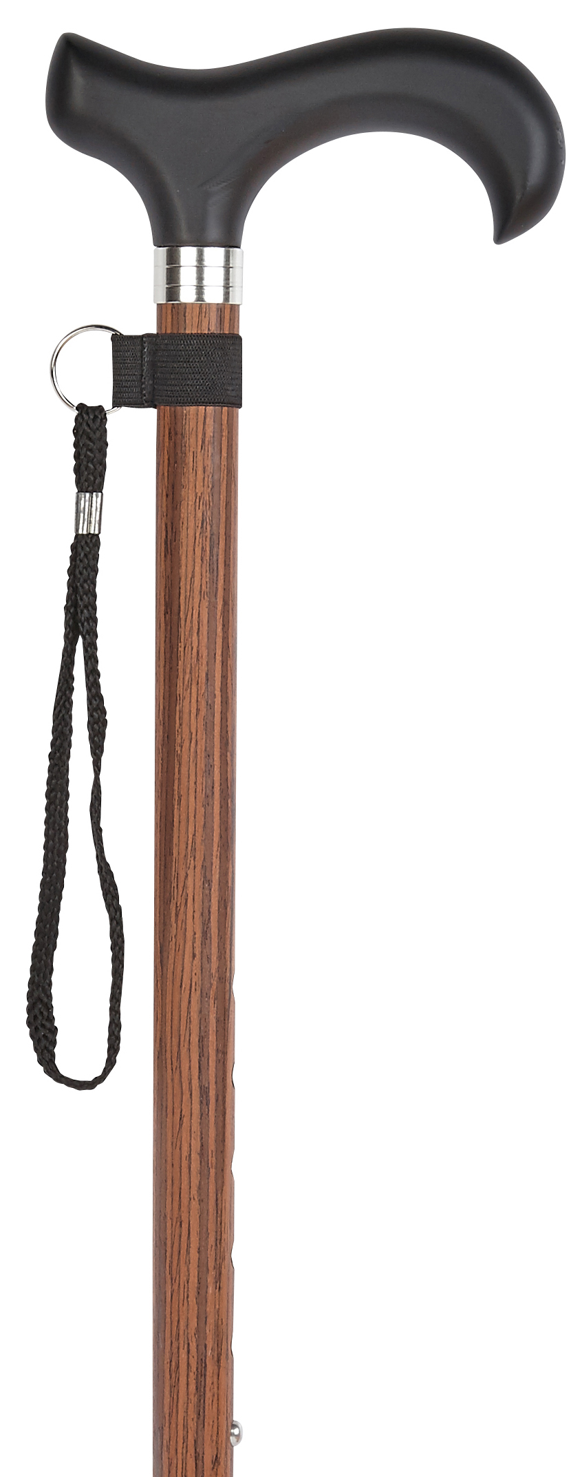 Walking Stick Zebrano Stylish Derby Handle Made Of Sturdy Cast Resin Stable Light Metal In Zebrano Wood Look Height Adjustable Incl Rubber