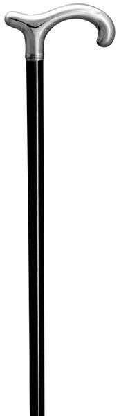 Gehstock Silberstock BAYREUTH,  XL-Derbygriff aus 925/1000 Sterling Silber, Stock aus edlem, handpoliertem Makassar-Ebenholz, inklusive Gummipuffer. – Bild 2