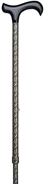 Design walking stick step derby CLEOPATRA, elegant derby handle made of hardwood with softgrip coating stick light metal, height adjustable, rubber buffer. – image 2