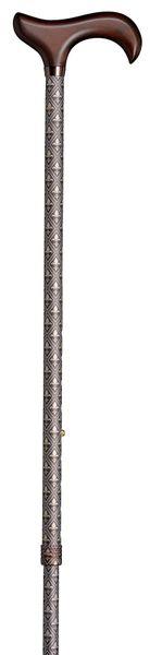 Gehstock Step-Derby LILIE, eleganter Derbygriff aus Hartholz, aufgesetzt auf einen Stock aus stabilem Leichtmetall, höhenverstellbar, inklusiv elegantem Gummipuffer. – Bild 2