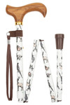 Walking stick folding stick BLACK FOREST , hunting and forest motifs, incl. Rubber buffer and carrying strap 001